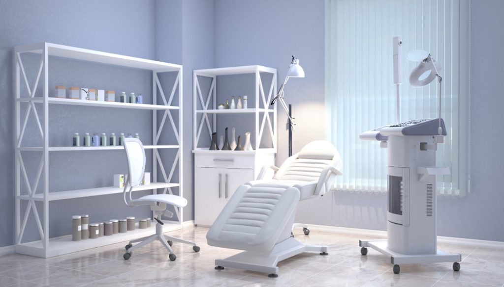 Room,With,Equipment,In,The,Clinic,Of,Dermatology,And,Cosmetology.